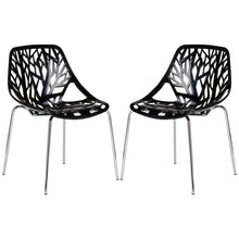 Birds Nest Dining Side Chair in Black (Set of 2)