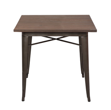 Trattoria Dining Table in Bronze / Elmwood