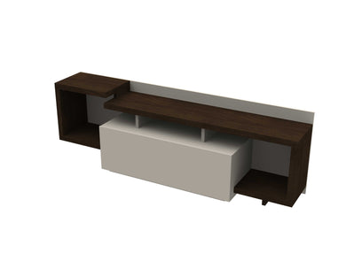 Domani TV Cabinet - Wenge/Off White - Blanc + Gris
