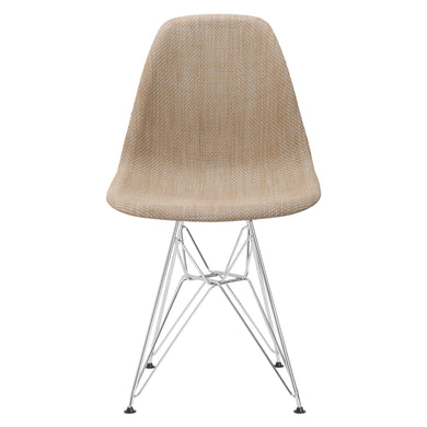 Woven Padget Dining Chair in Beige (Set of 10)