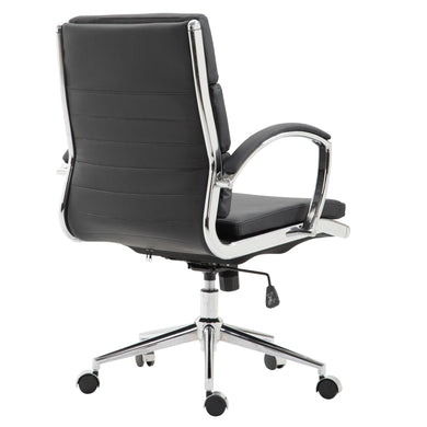 Crestwell Mid Back Office Chair in Black