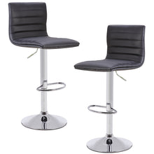 Roberta Adjustable Barstool in Black (set of 2)
