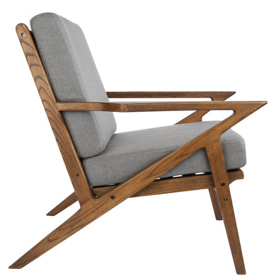 Zen Lounge Chair in Grey