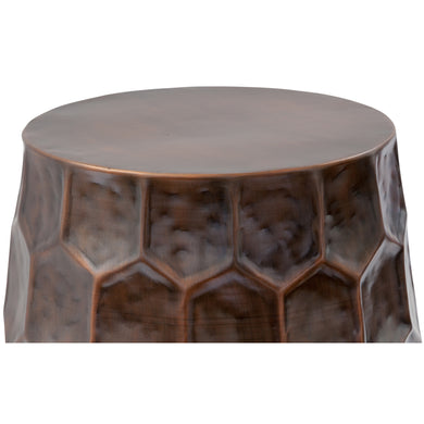 Delano Honeycomb Accent Table in Bronze