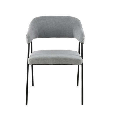Helsinki Upholstered Dining Chair in Grey (Set of 2)