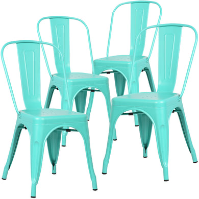 Trattoria Side Chair in Aqua(Set of 4)