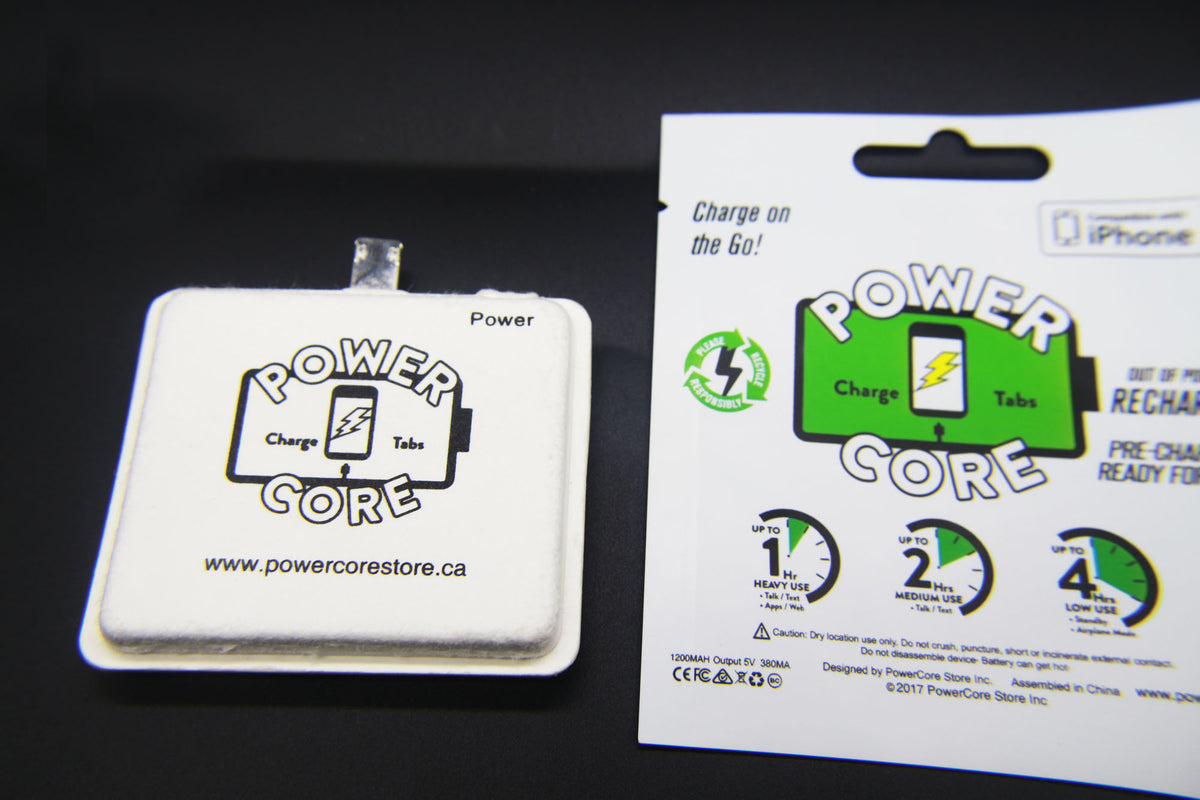 In Stock  PowerCore Charge Tabs 1200 mah. - iOS/ I-Phone Compatible