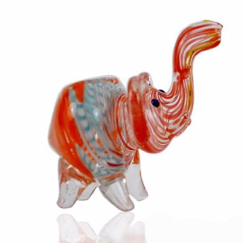 "3"" DESIGN ELEPHANT GLASS PIPE"