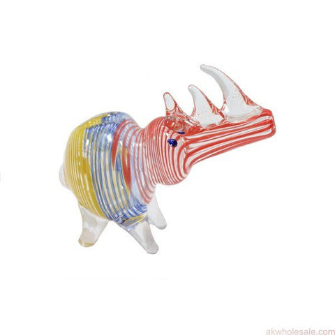 "5"" RHINO ANIMAL GLASS PIPE"