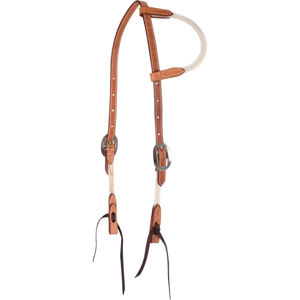 Martin Saddlery Rope and Skirting Slip Ear Bridle