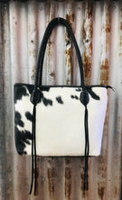 Trinity Ranch Hair-On Cowhide Bag - Black