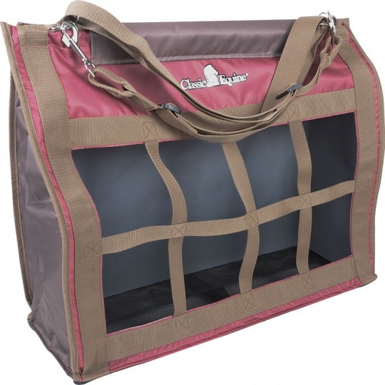 Classic Equine Top Load Hay Bag - Marsala/Caribou