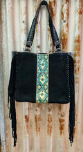 Trinity Ranch Hair-On Cowhide Collection Carry Tote - Black