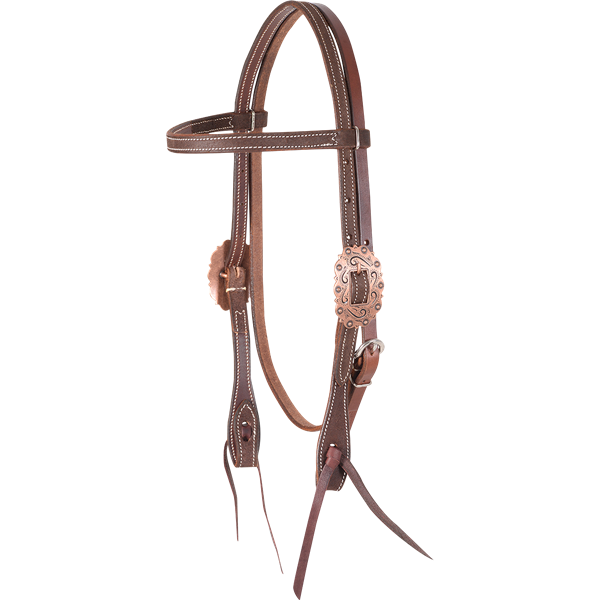 Martin Saddlery Copper Buckle Bridle