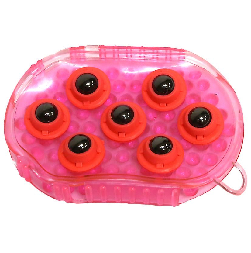 Gel Groomer Massage Mitt with Rollers