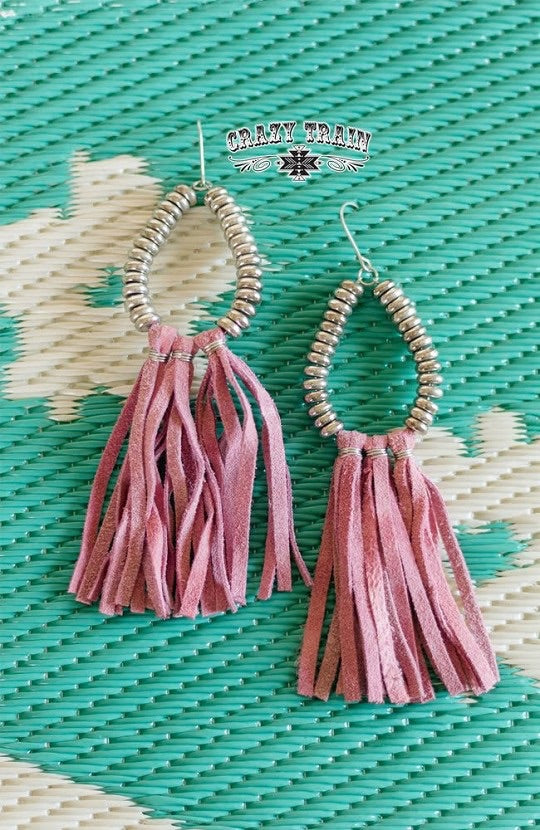 Crazy Train Rio Grande Earrings - Blush