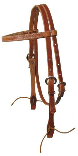 Browband Harness Leather Headstall With Ties