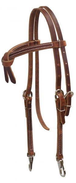 Leather Futurity Knot Bridle With Clips