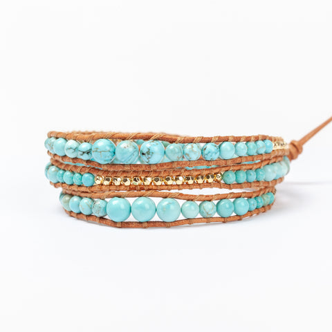 Gold and Turquoise 3 wrap