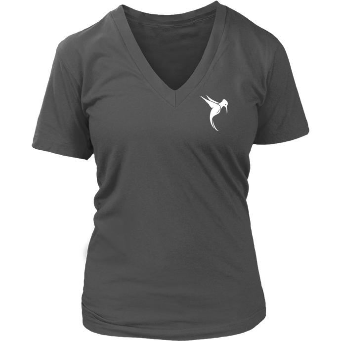 Ladies V-Neck Nimble Bird Tee