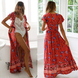 Women Split Sexy Beach Maxi Summer Dress