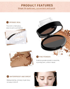 Professional Kit Pigments Mineral Powder Palette With Eyebrow Stamps Makeup