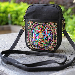 Shoulder Flowers Vintage Hippie Embroidered Bag