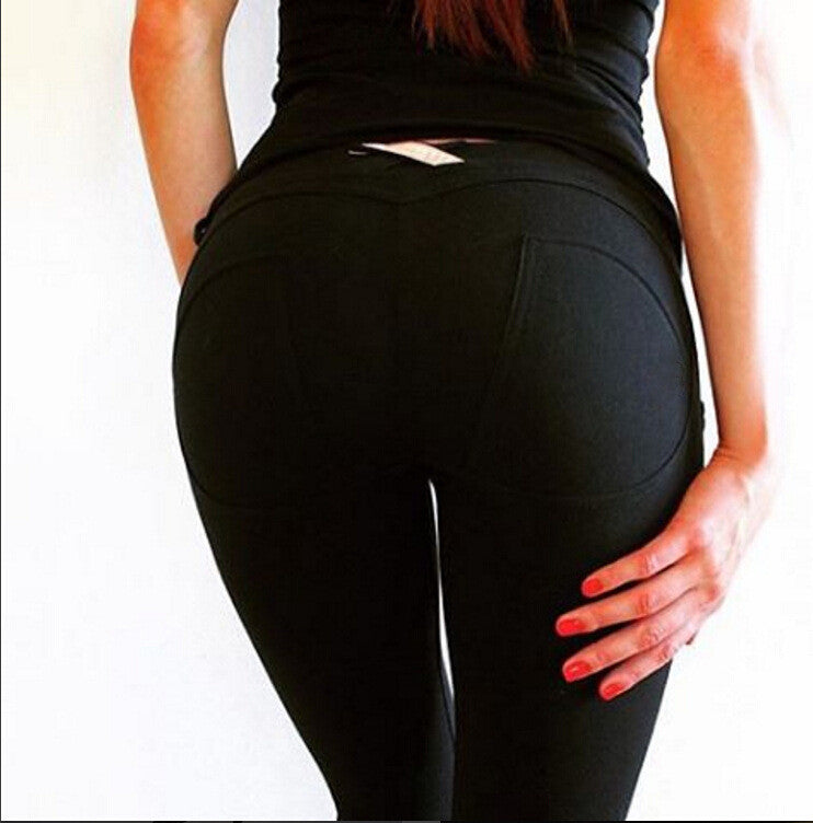 Low Waist High Elastic Sexy Hip Push Up Pants Leggings