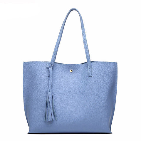 Luxury Brand Shoulder Soft PU Leather TopHandle Bag