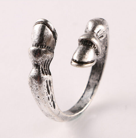 Fine Quality Fashion vintage horseshoe Resizable Ring