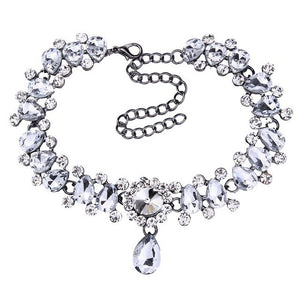 Hot Boho Collar Choker Drop Crystal Beads Necklace