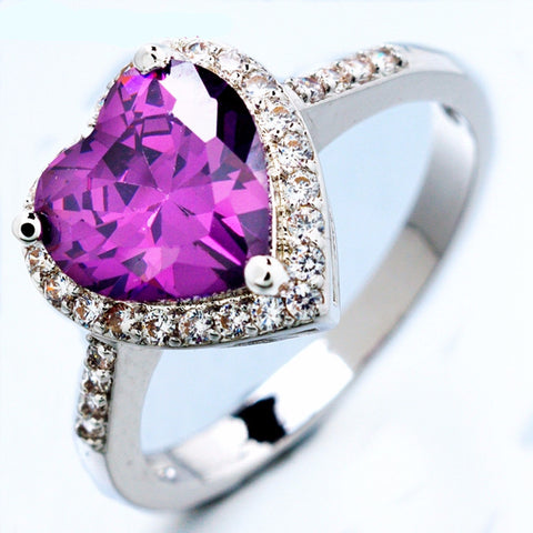 Wedding and elegant heart design ring