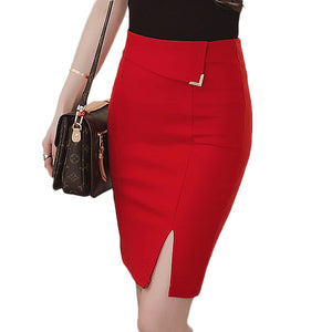 Slim Office Skirt Sexy Elastic High Waist Pencil Skirt