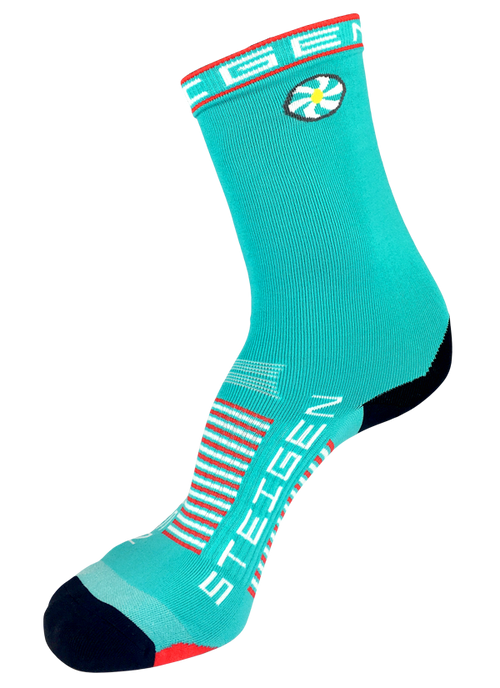 Steigen Socks - 3/4 Length - Aqua Blue