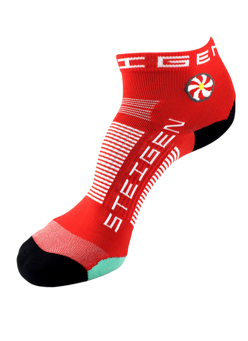 Steigen Socks - 1/4 Length - Cherry Red