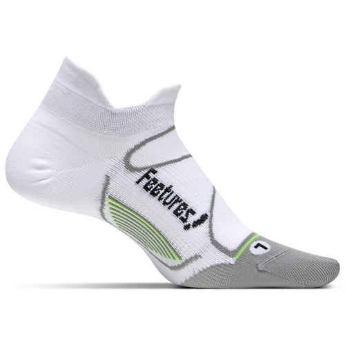 Feetures Socks - Elite Ultra Light Cushion - No Tab - White/Black