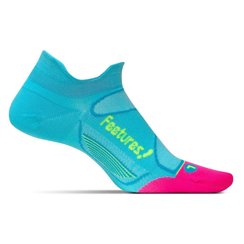 Feetures Socks - Elite Ultra Light Cushion - No Tab - Sky Blue/Reflector