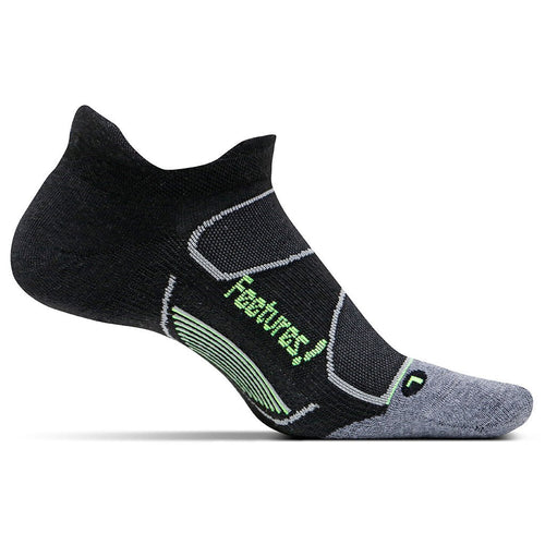 Feetures Socks - Elite Max Cushion - No Tab - Black/Reflector