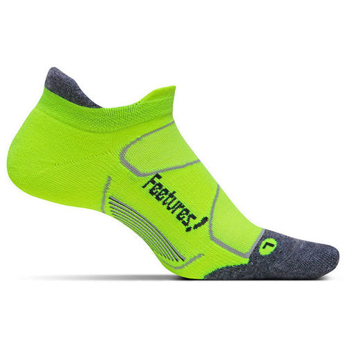 Feetures Socks - Elite Max Cushion - No Tab - Reflector Carbon