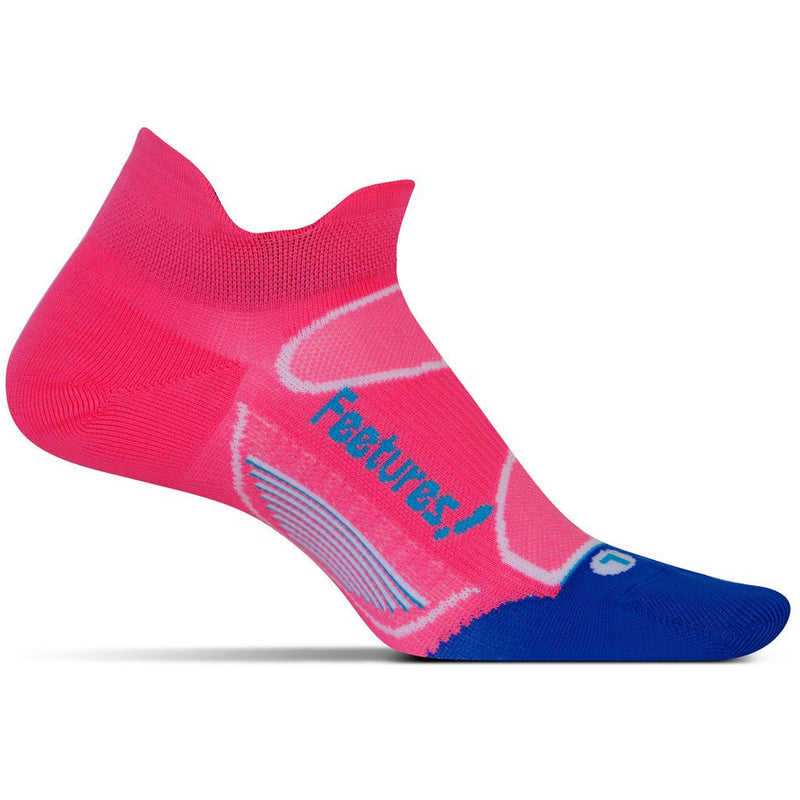 Feetures Socks - Elite Ultra Light Cushion - No Tab - Electric Pink/Hawaiian Blue ** LARGE ONLY **