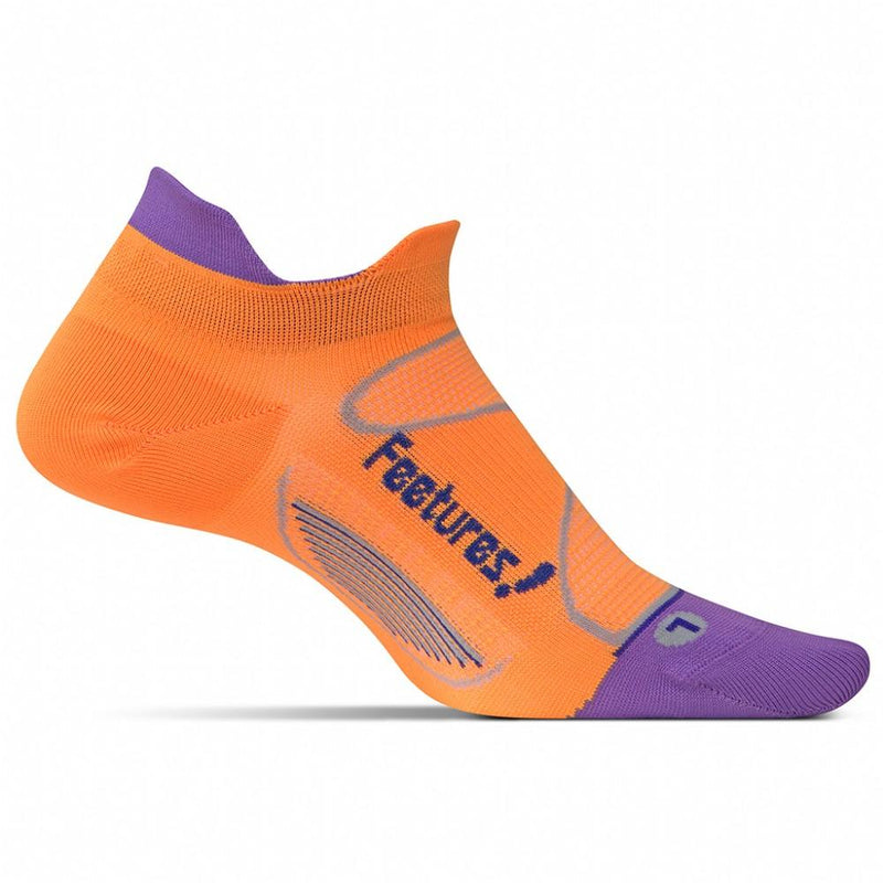 Feetures Socks - Elite Ultra Light Cushion - No Tab - Firecracker