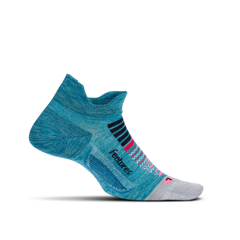 Feetures Socks - Elite Ultra Light Cushion - No Tab - Aurora Blue