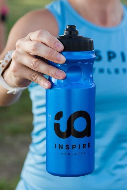 Inspire Athletic Blue Sports Bottle - Sureshot lid