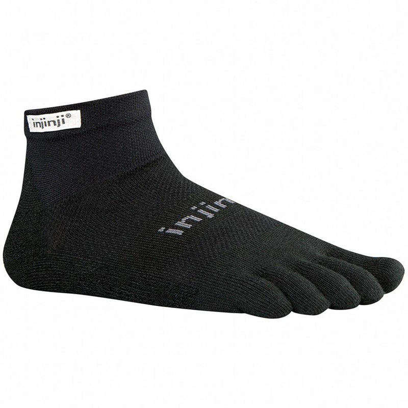 Injinji Socks - RUN 2.0 Original Weight - Mini Crew - Black