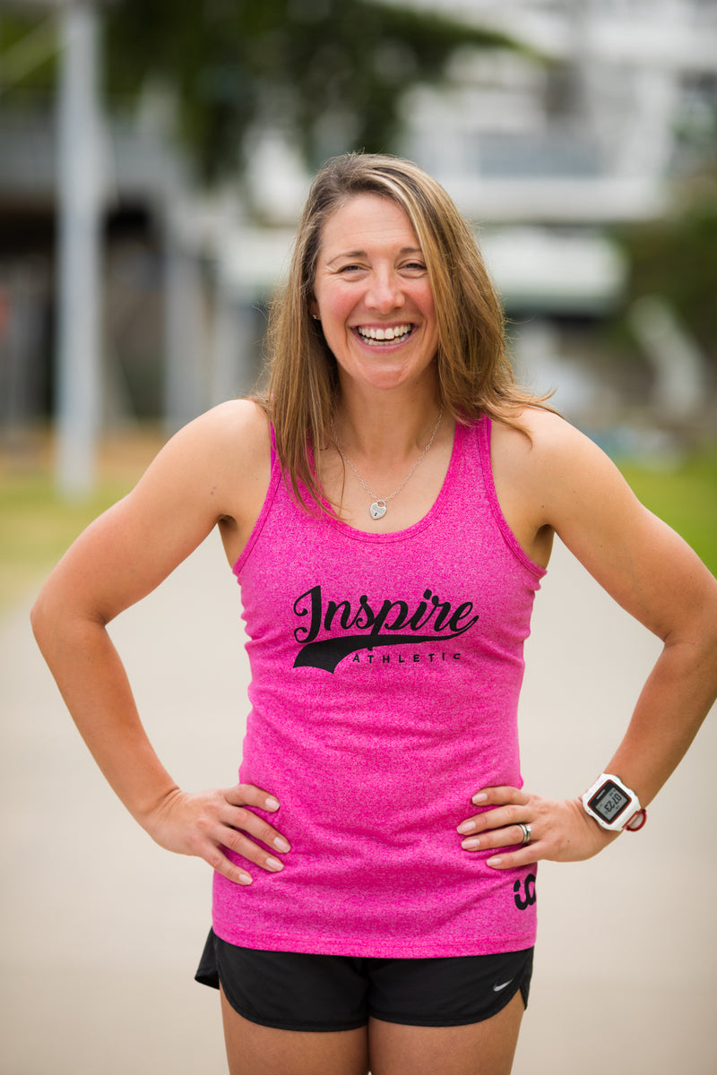 Inspire Athletic Singlet - Pink -