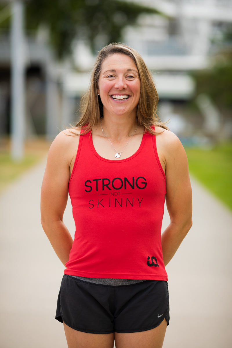 Inspire Athletic Singlet - Strong not Skinny - Red/Black -