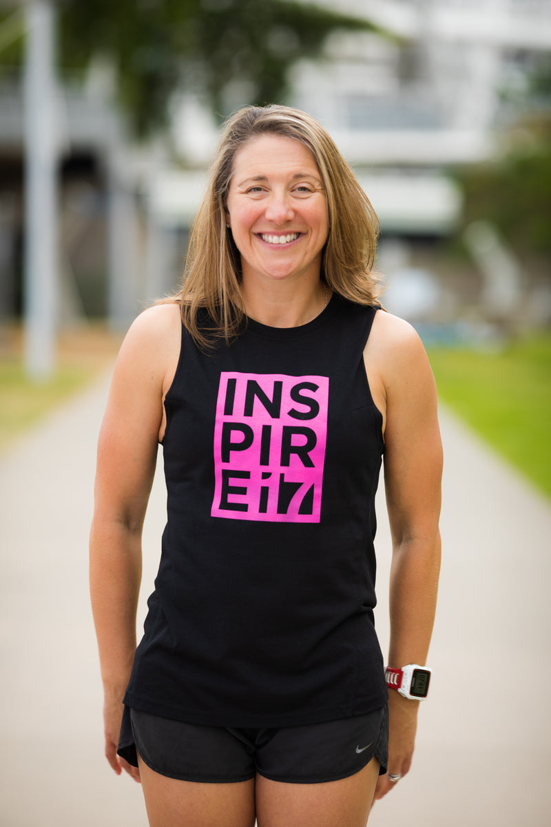 Inspire Athletic Tank - Inspire 17 Block - Black/Pink -