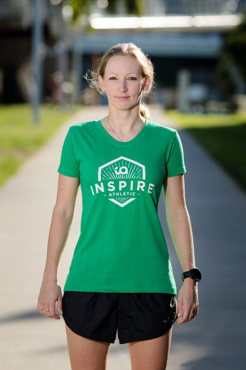Female Tee with Inspire Athletic Design - Green