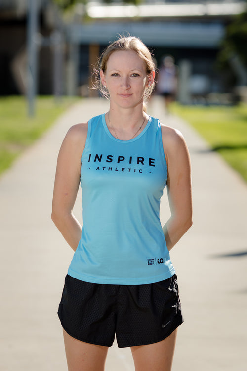 Ladies IA Running Singlet - Blue