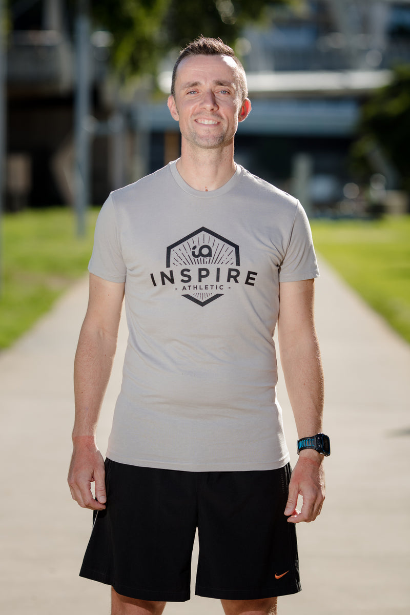 Male Tee with Inspire Athletic Design - Opal